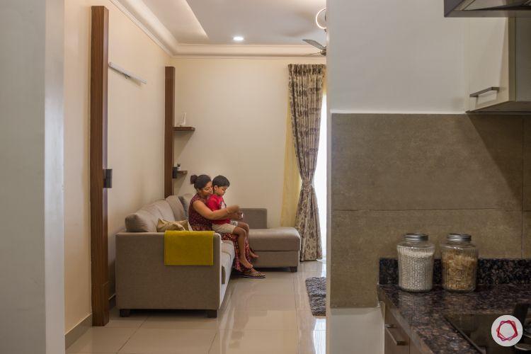 2bhk house plan living room kitchen