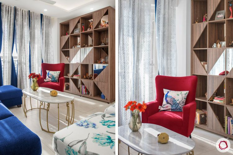 House design photo_living room bookshelf