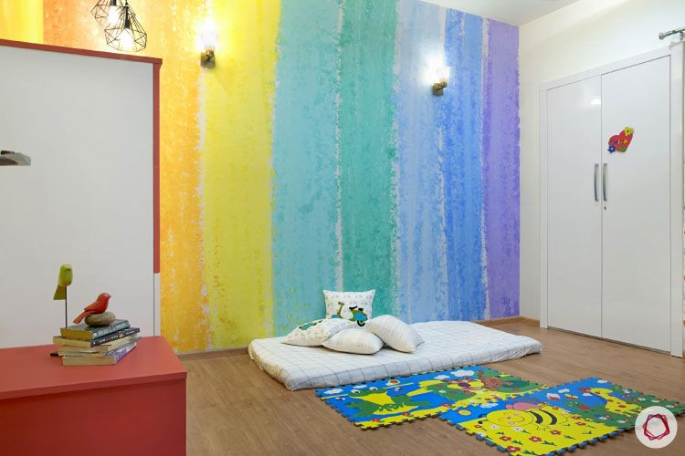 House design photo_kids room full with wardrobes