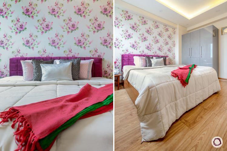 duplex house plans floral bedroom