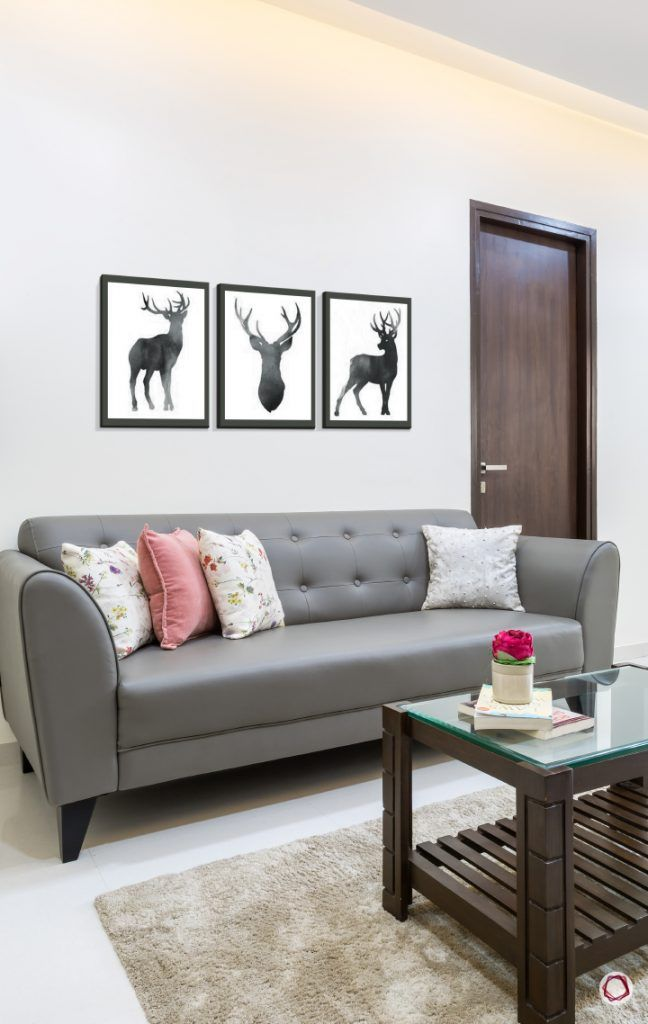 Interior design for 1bhk flat_living room sofa
