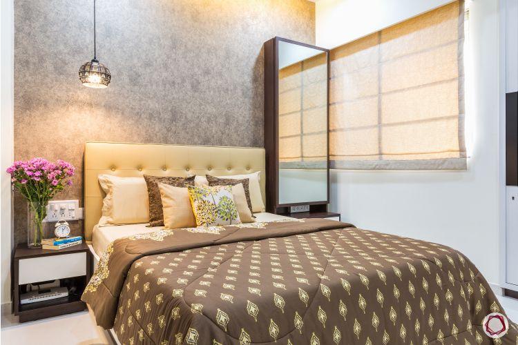 Interior design for 1bhk flat_bedroom full