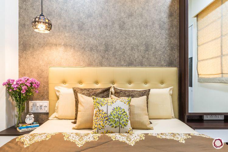 Interior design for 1bhk flat_bedroom bed
