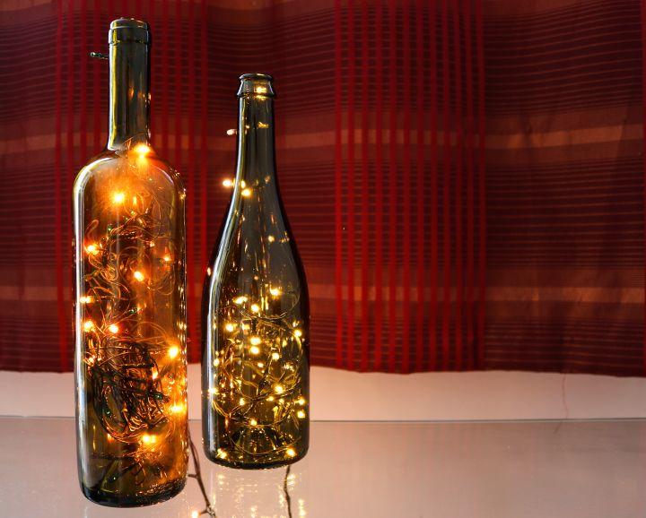 Light decoration ideas_bottles