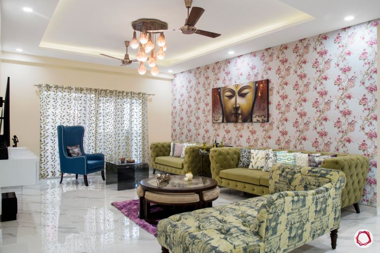 Flats in noida_living room