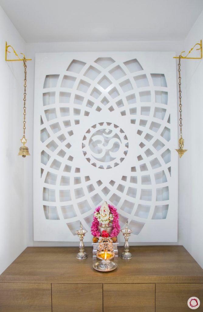 Modern pooja room designs_boundaries with bells