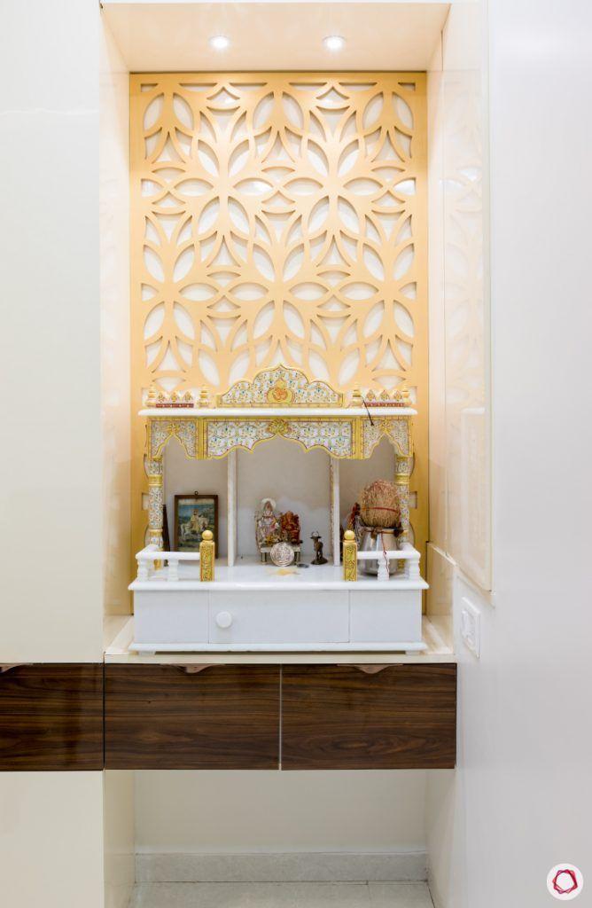Modern pooja room designs_back panel