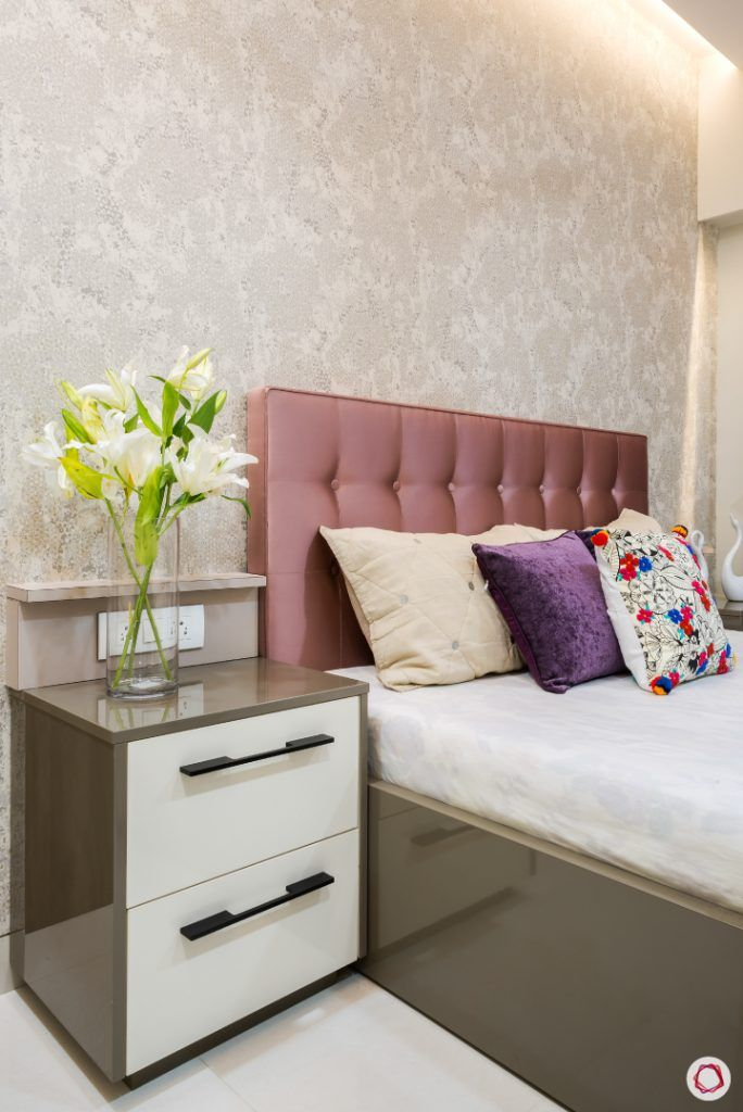 floral wallpaper designs-pink headboard designs