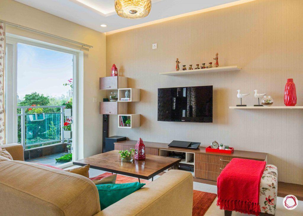 wall shelves for living room TV unit ledges