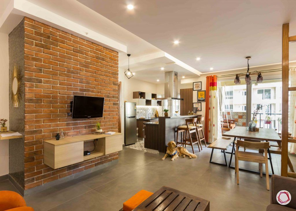Best interior designers in bangalore_exposed-brick-wall-TV-unit