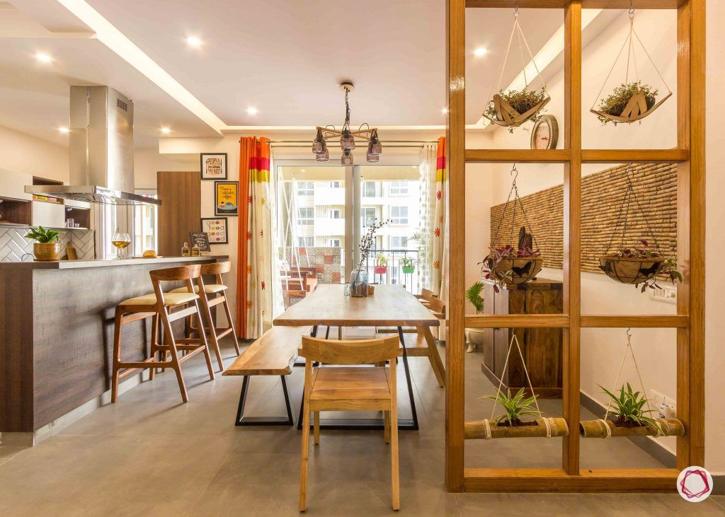 Best interior designers in bangalore_dining room-plants-chairs