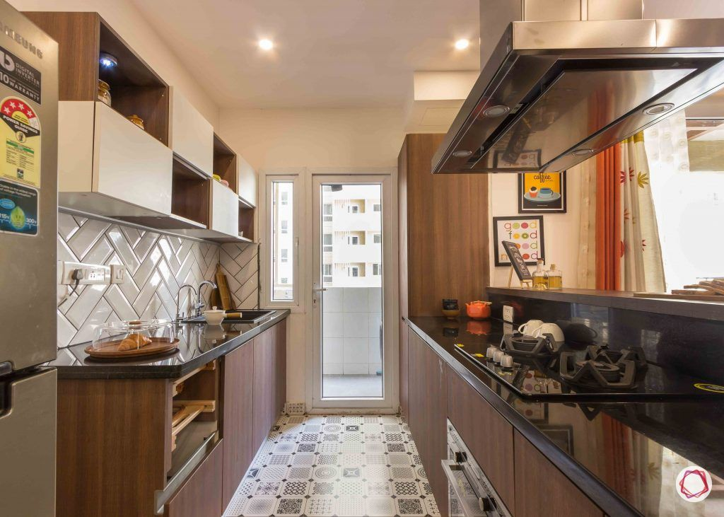 Best interior designers in bangalore_kitchen-ceramic-tiles-white-brown-cabinets