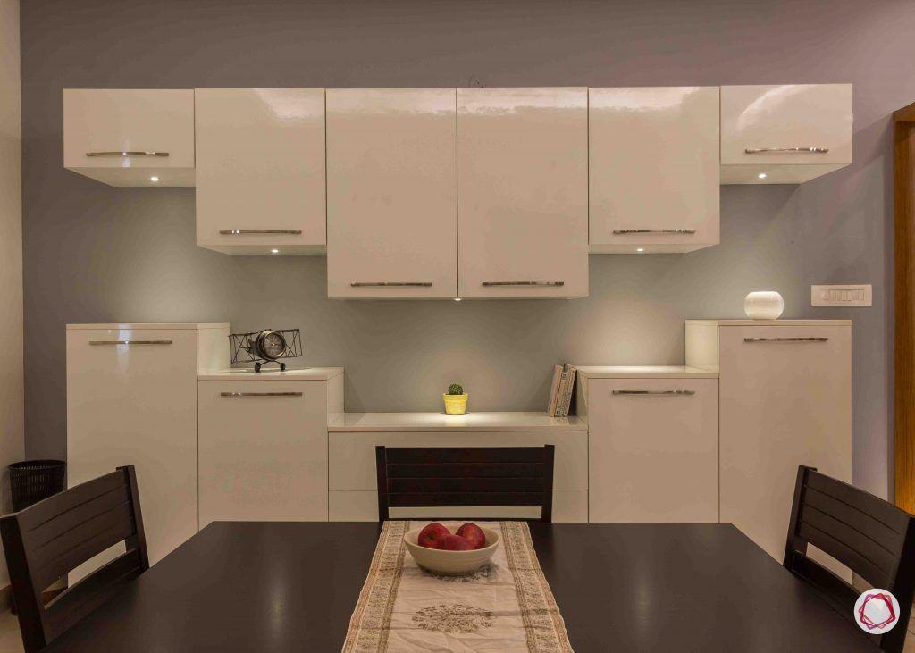 modern house design crockery cabinet