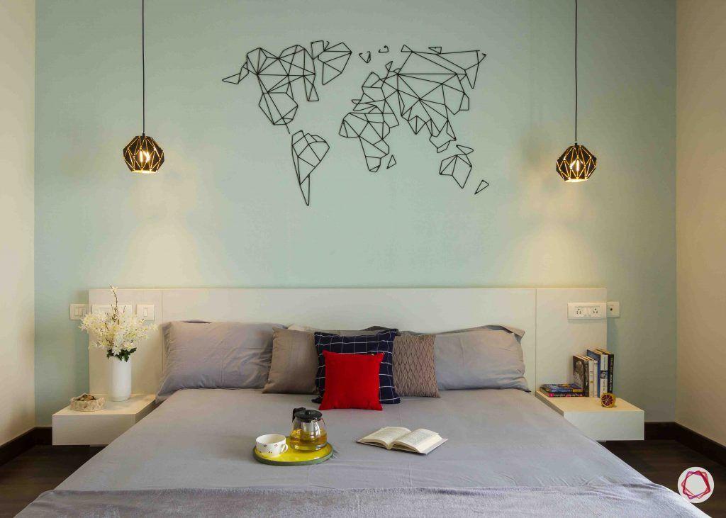 modern house design bedroom lights