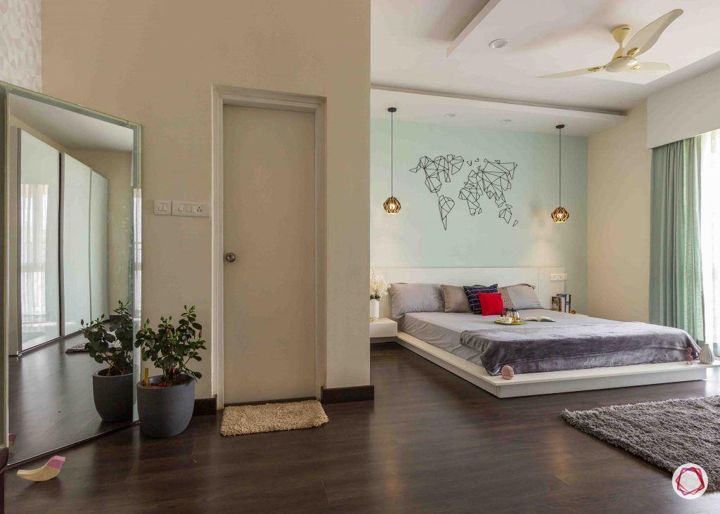 modern house design bedroom mirror