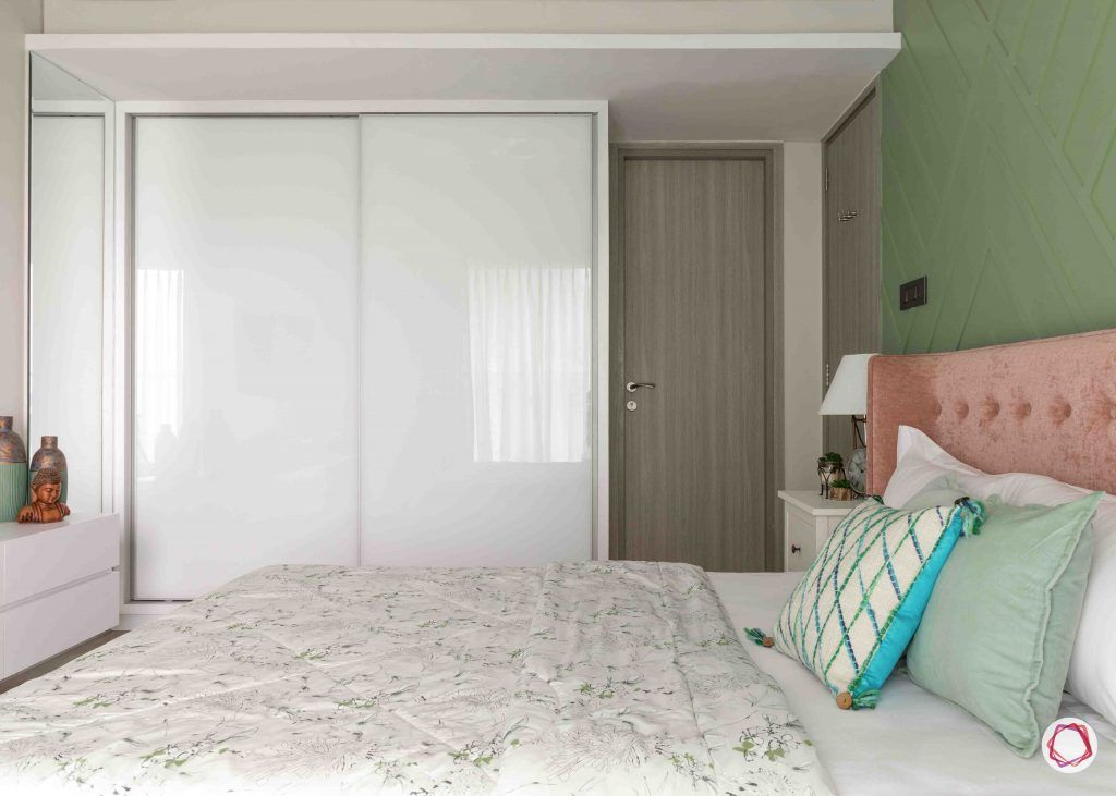 apartment design_white wardrobe designs-pink headboard designs