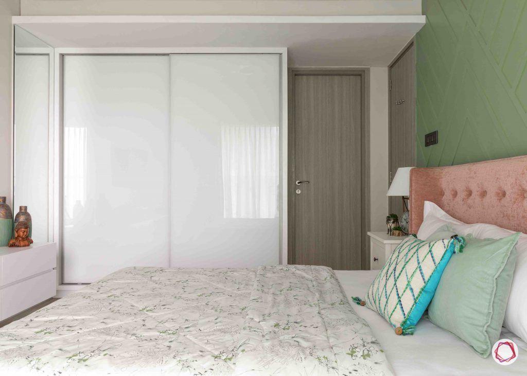 apartment design_white wardrobe designs-pink headboard designs