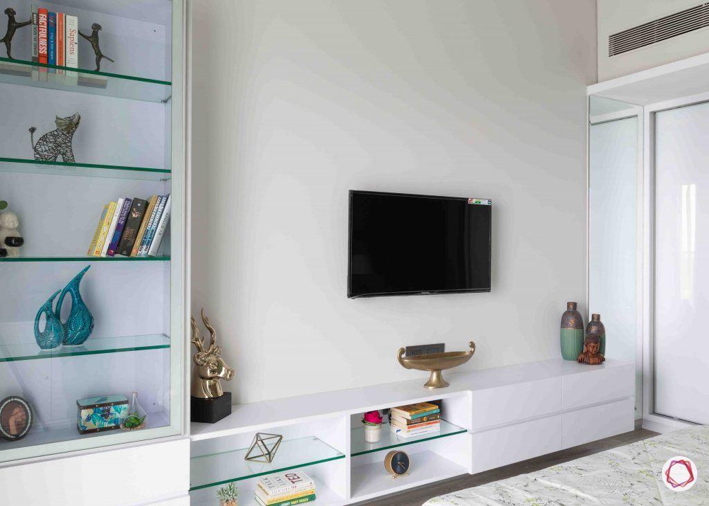 apartment design_minimal tv unit-glass book racks