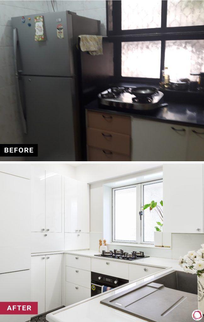 home makeover - white kitchen cabinets
