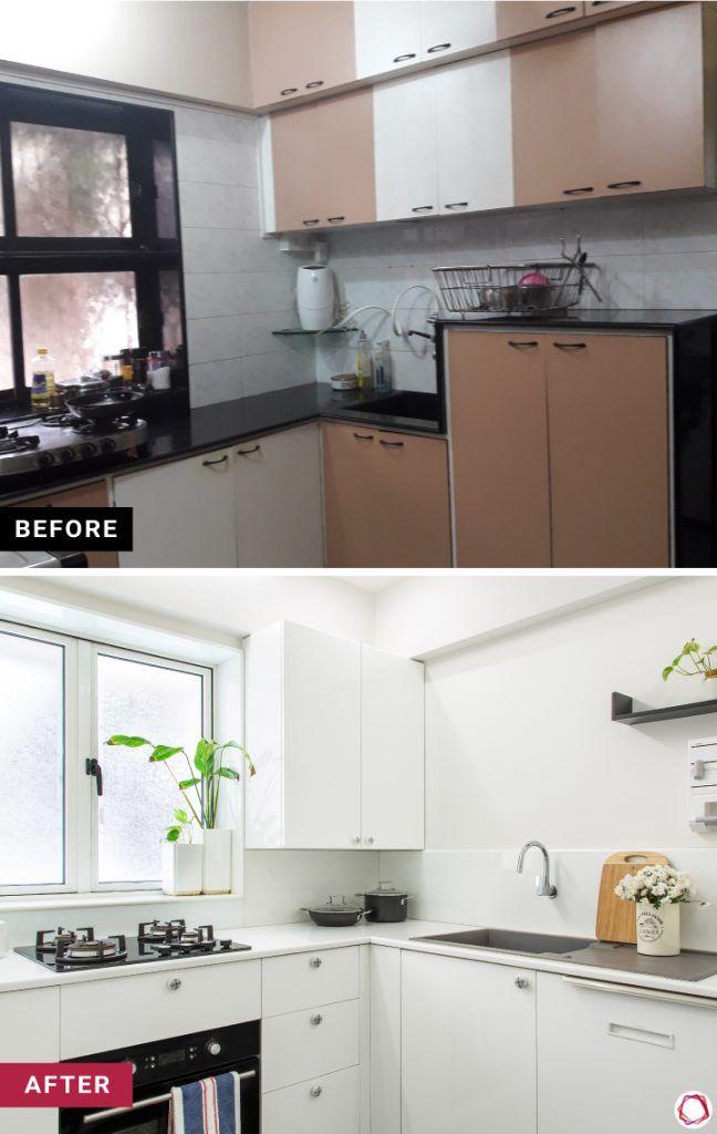 home-makeover-white kitchen