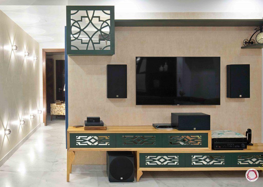 Flats in Delhi_lounge area tv unit