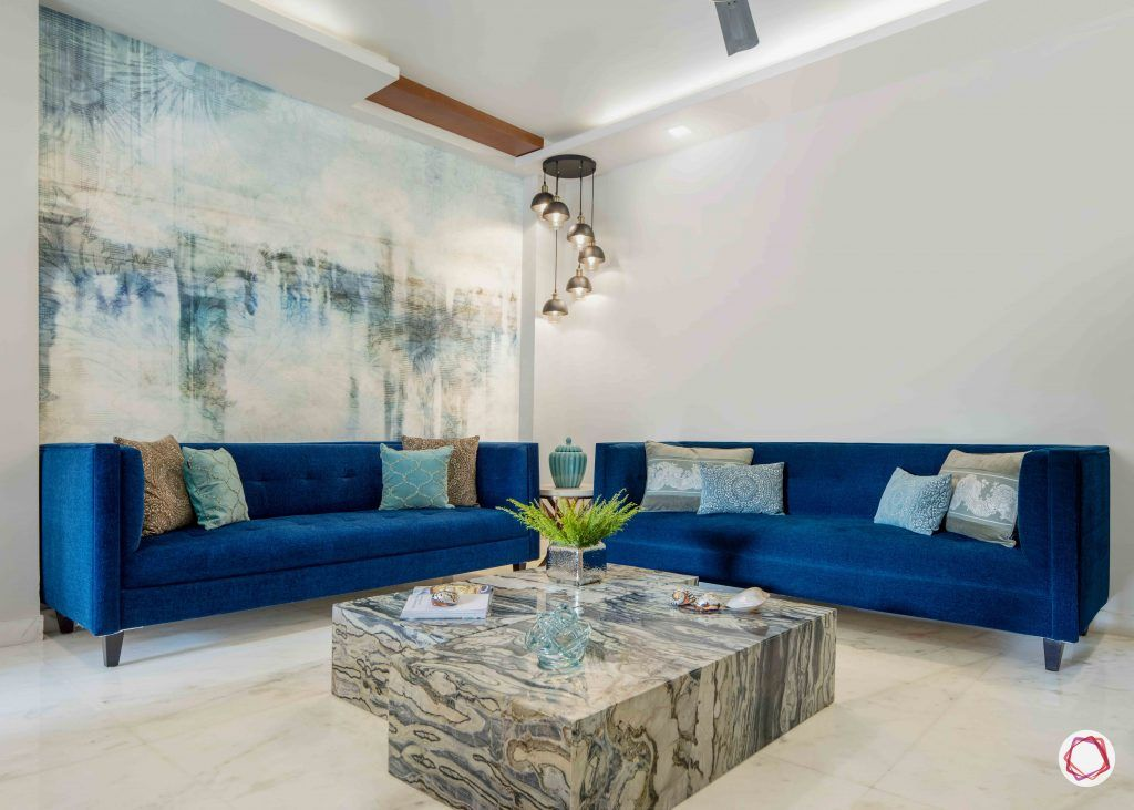 Flats in Delhi_living room sofa