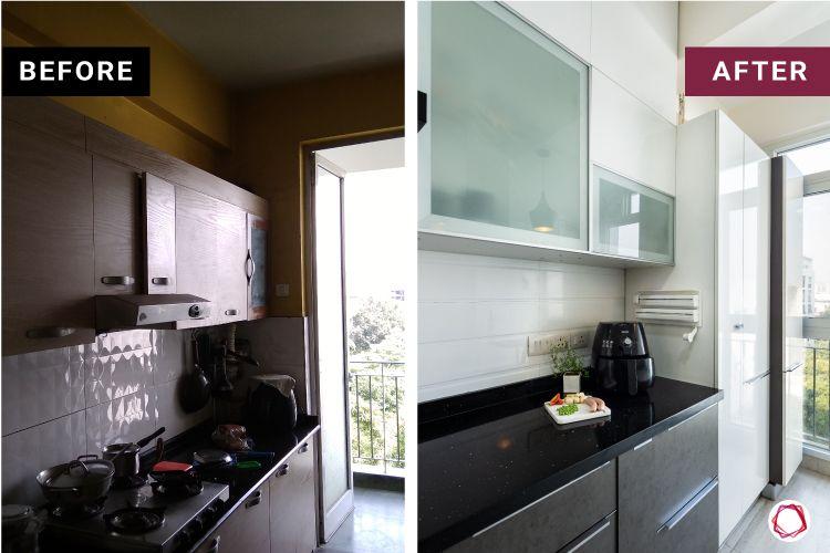 Modern kitchen design_before after 1