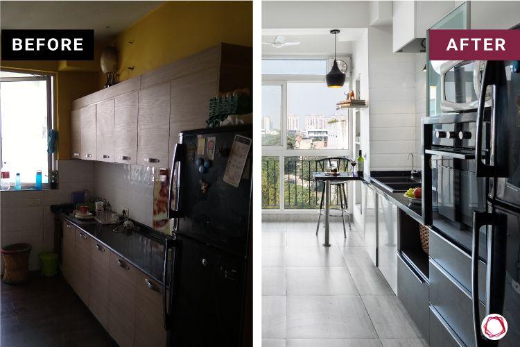 Modern kitchen design_before after 2