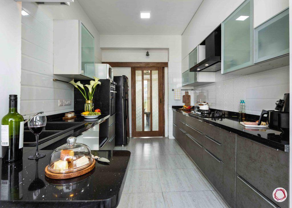Modern kitchen design_full view from window