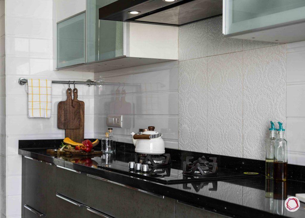 Modern kitchen design_kitchen hob view