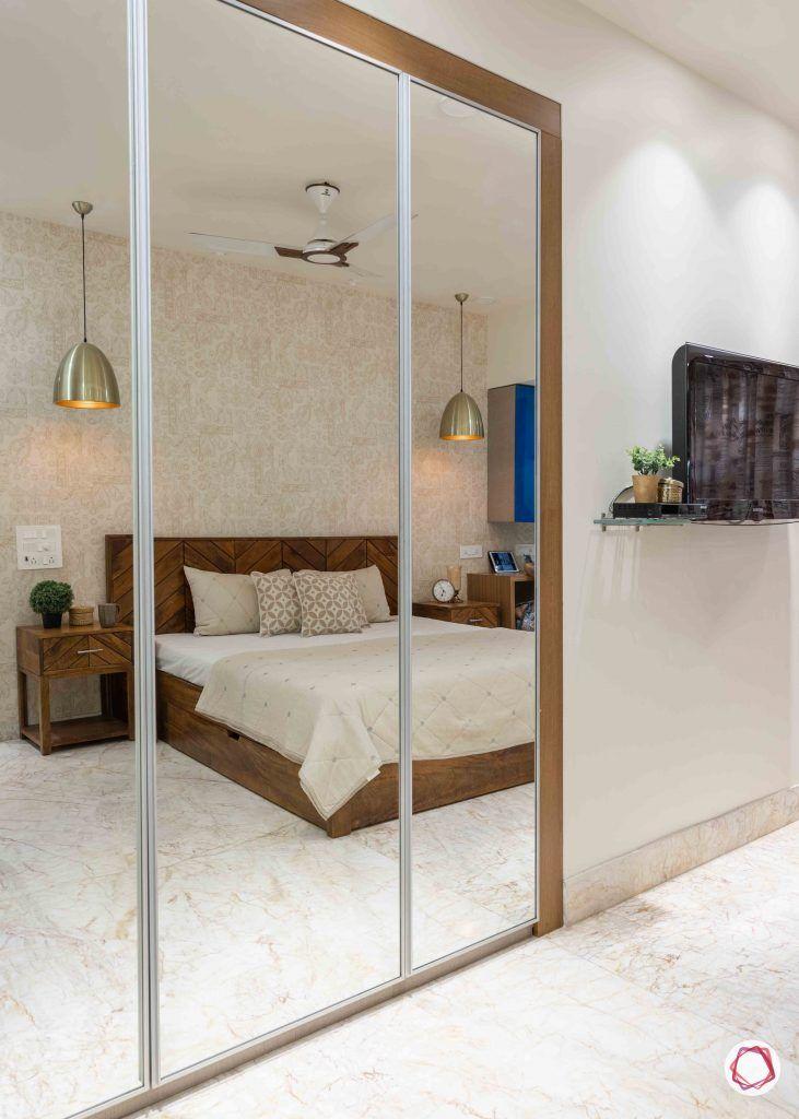 home interior-master bedroom-mirror wardrobe