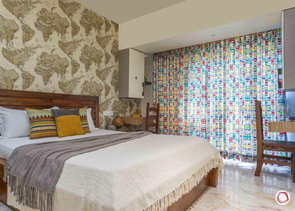 home interior-kids bedroom-wooden bed
