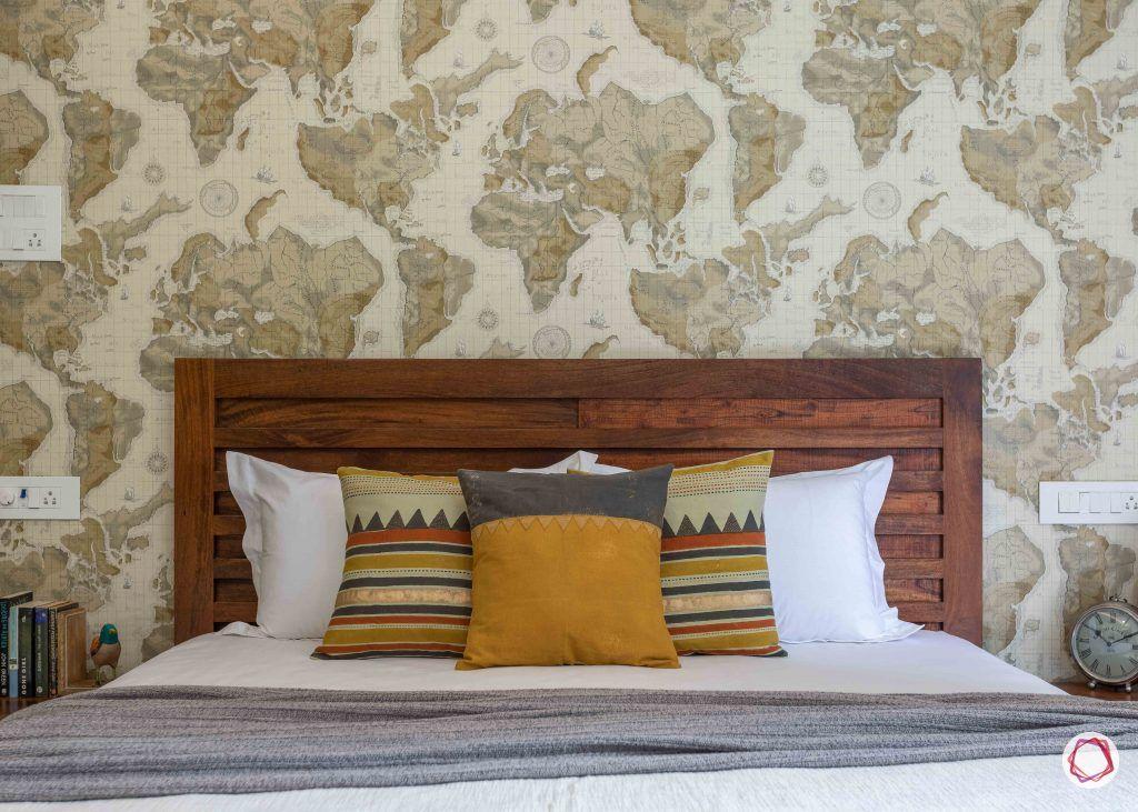 home interior-kids bedroom-wooden headboard