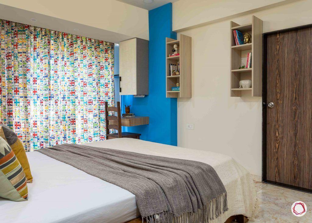 home interior-kids bedroom-blue wall