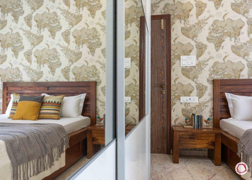 home interior-kids bedroom-pattern wallpaper