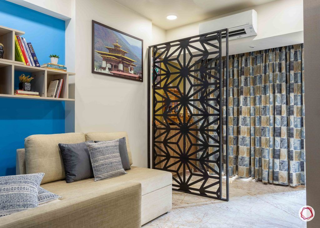 home interior-study room-jaali partition