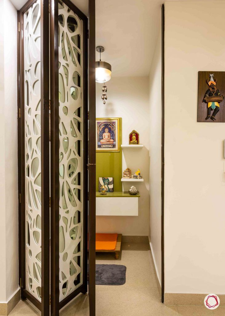 pooja room door designs folding doors