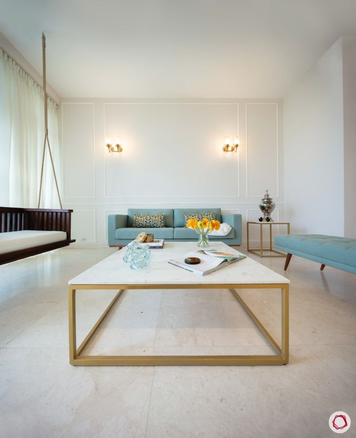 Flats in gurgaon_living room centre table