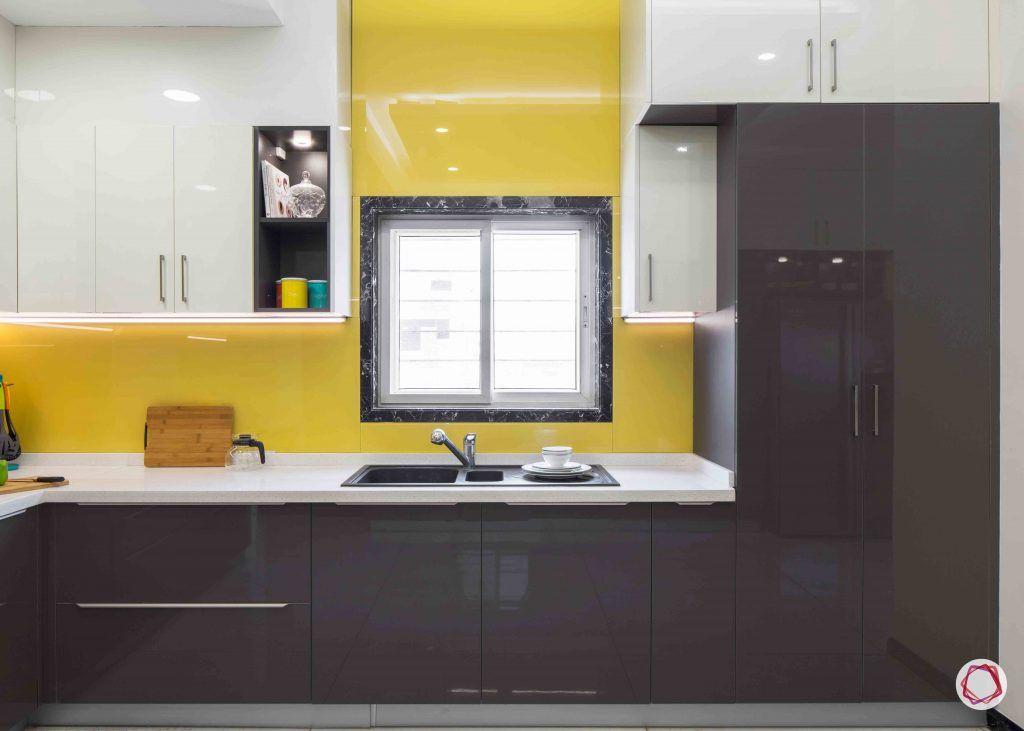 kitchen design ideas lacquered glass tiles