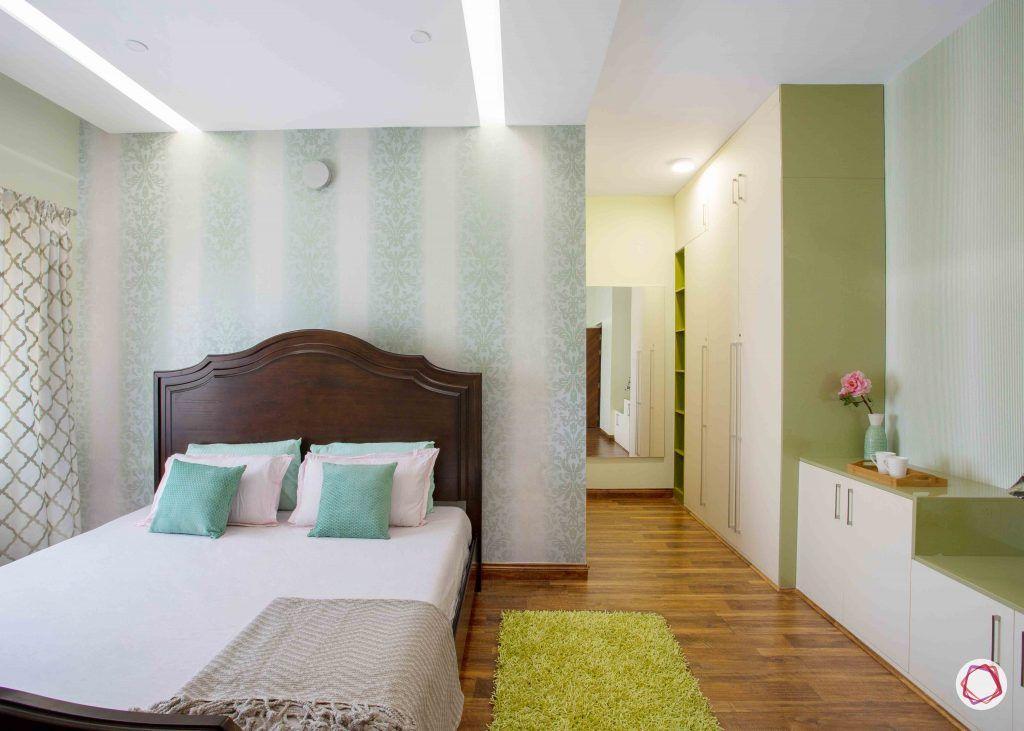 kitchen design ideas white and green wardrobe