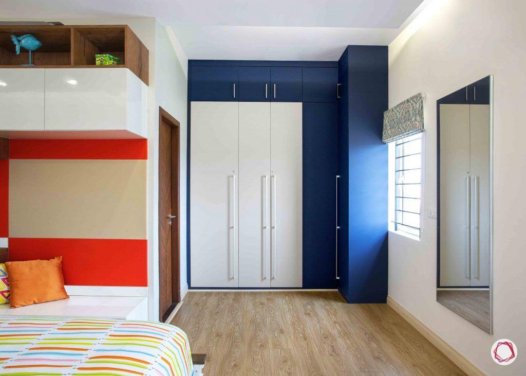 kitchen design ideas blue and white wardrobe