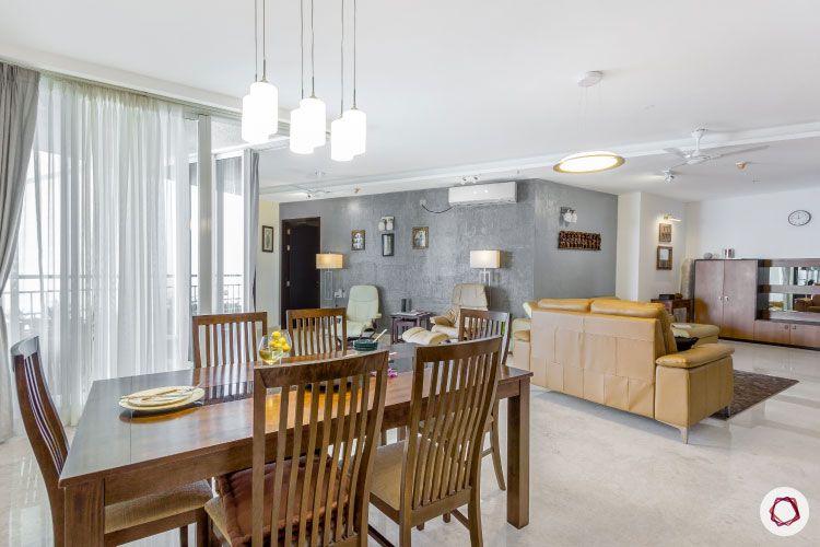 modern design-living room ideas-wooden dining table designs