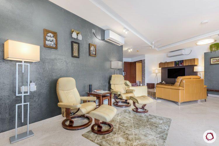 modern design_grey wall paint ideas-floor lamp designs