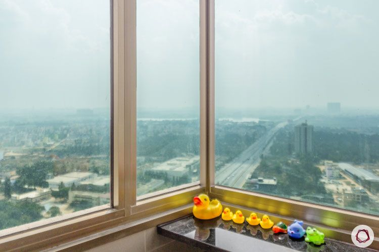 modern design_glass windows for bathroom