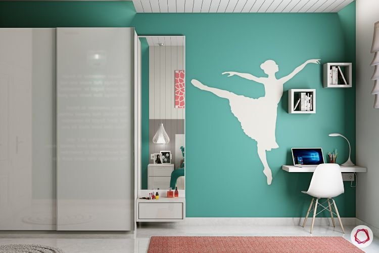 wall themes-study room-ballerina silhouette