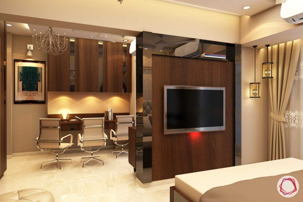 Home interiors ghatkopar east_master bedroom study view