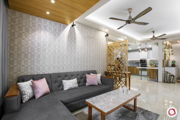 New home design in Dwarka_sitting room sofa