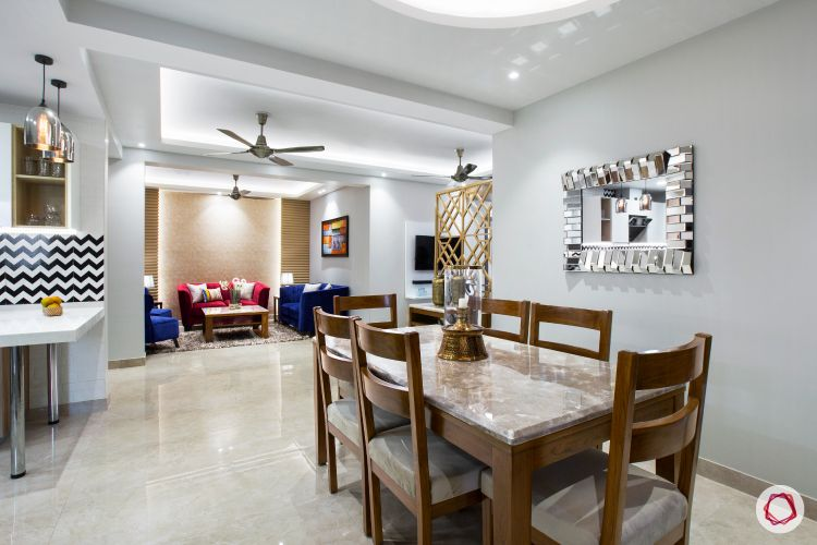 New home design in Dwarka_dining room full