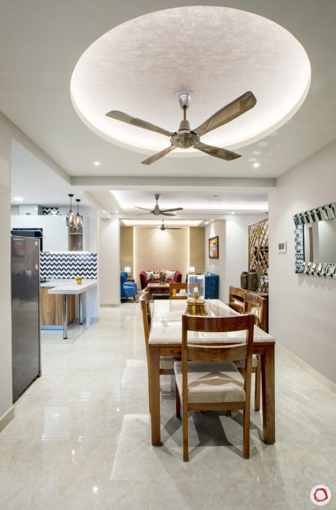 New home design in Dwarka_dining room ceiling view