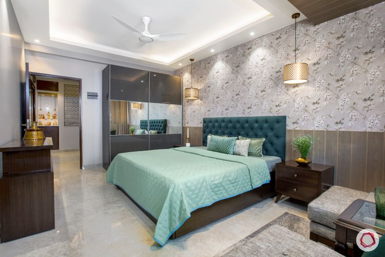 New home design in Dwarka_master bedroom full
